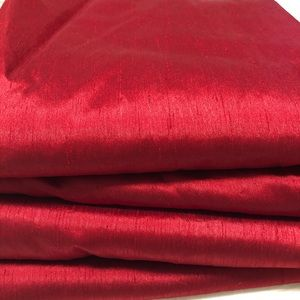 "Threshold set of 4 red curtain panels 54""x95"""